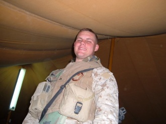 Jon Davis while stationed in Al Taqqadum, Iraq 2007.